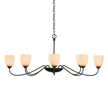 Oval Eight Arms with Glass Chandelier
