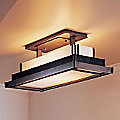 Steppe Semi-Flushmount With Art Glass - Large by Hubbardton Forge