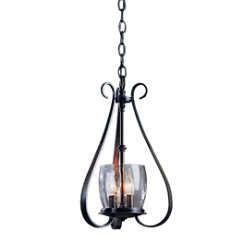 Sweeping Taper Three Arms And Candle Cluster Chandelier by Hubbardton Forge