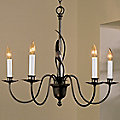 Forged Leaves Chandelier by Hubbardton Forge
