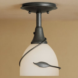 Forged Leaf Semi-Flushmount by Hubbardton Forge