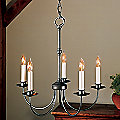 Simple Lines Five Arms Chandelier by Hubbardton Forge