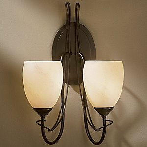 Trellis Two Light Wall Sconce With Glass by Hubbardton Forge