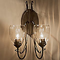 Trellis Two Light Wall Sconce With Water Glass by Hubbardton Forge