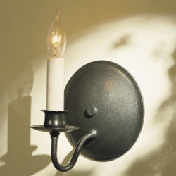 Single Light On Round Back Wall Sconce by Hubbardton Forge