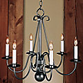 Interwoven Scrolls Six Arms Chandelier - Small by Hubbardton Forge
