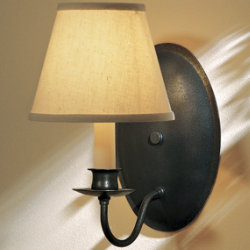 Single Light On Oval Back Wall Sconce With Shade by Hubbardton Forge