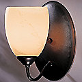 Simple Lines Single Light with Dome Glass Wall Sconce- Large by Hubbardton Forge