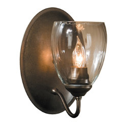 Simple Lines Single Wall Sconce with Water Glass by Hubbardton Forge