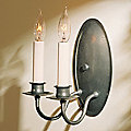 Two Light On Oval Back Wall Sconce by Hubbardton Forge
