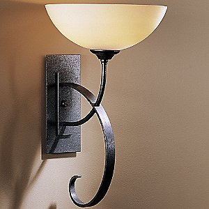 Scrolled Taper Wall Sconce with Glass by Hubbardton Forge