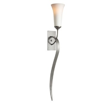 Sweeping Taper Wall Sconce With Glass