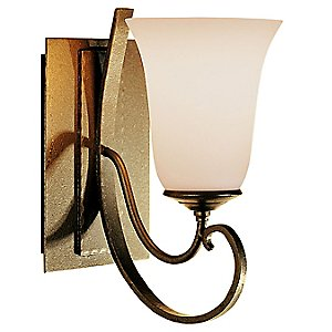 Scroll Single Line Wall Sconce with Glass by Hubbardton