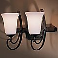 Scroll Double Wall Sconce With Glass by Hubbardton Forge
