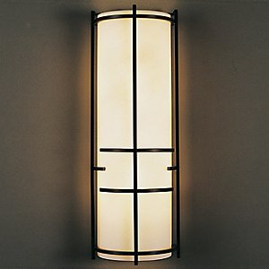 Extended Bars Wall Sconce With Faux Alabaster by Hubbardton Forge