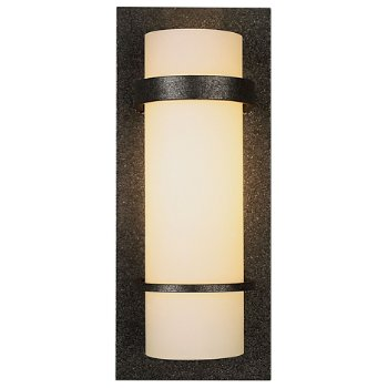 Banded Wall Sconce with Glass