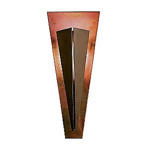 Tapered Angle Wall Sconce With Copper by Hubbardton Forge