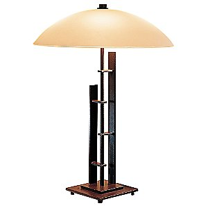 Metra Double Table Lamp with Glass by Hubbardton Forge