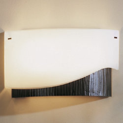 Forged Wave Wall Sconce With Glass by Hubbardton Forge