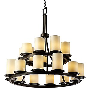 CandleAria Dakota Two Tier Chandelier by Justice Design Group