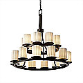 Limoges Dakota Two Tier Ring Chandelier by Justice Design Group