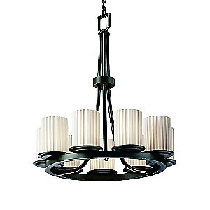 Limoges Dakota 9 Light Ring Chandelier by Justice Design Group