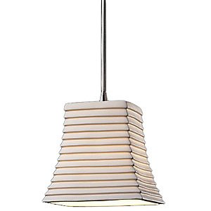 Limoges Mini Square Flared Pendant by Justice Design Group