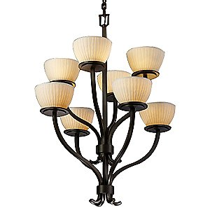 Limoges Sonoma Two Tier Chandelier by Justice Design