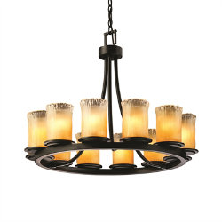 Veneto Luce Dakota 12 Light Chandelier by Justice Design Group