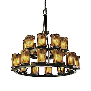 Veneto Luce Dakota Two Tier Ring Chandelier by Justice Design Group
