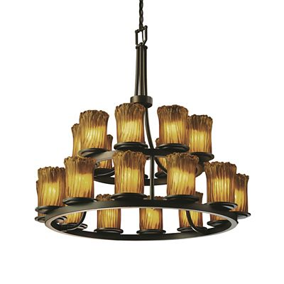 Veneto Luce Dakota Two Tier Ring Chandelier by Justice Design