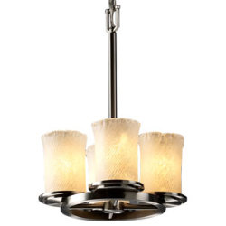 Veneto Luce Dakota Straight Stem Ring Chandelier by Justice Design Group