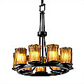 Veneto Luce Dakota 9 Light Ring Chandelier by Justice Design Group