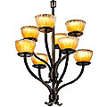 Veneto Luce Sonoma Two Tier Chandelier by Justice Design Group