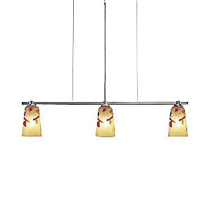 Carnevale Kandinsky Gold Linear Suspension by Oggetti Luce