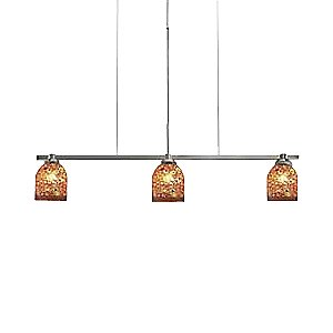 Fantasia Belle Klimt Amber Linear Suspension by Oggetti Luce