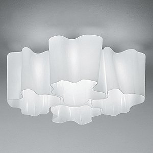 Logico Mini Quadruple Nested Semi Flushmount by Artemide