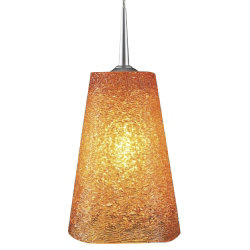 Bling II LED Down Pendant with 4 in. Kiss Canopy by Bruck Lighting Systems