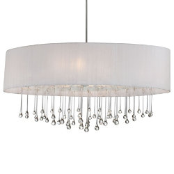 Penchant 6 Light Oval Pendant by Eurofase