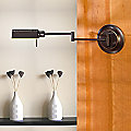 Double-Jointed Swing Arm Wall Sconce No. 8170/1 by Holtkoetter