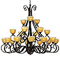 Barcelona 21 Light 3 Tier Chandelier by Maxim Lighting