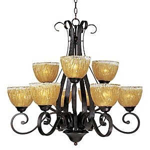 Barcelona 9 Light 2 Tier Chandelier by Maxim Lighting