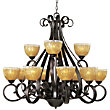 Barcelona 12 Light 2 Tier Chandelier by Maxim Lighting