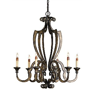 Retrospect Chandelier by Currey & Company