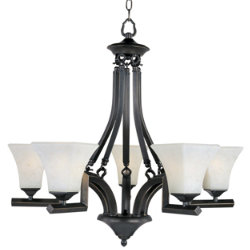 Mission Bay Uplight Chandelier by Maxim Lighting