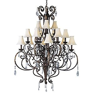 Augusta Chandelier Crystal/Shade Option by Maxim Lighting