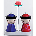 Mr. & Mrs. Chin Salt and Pepper Shaker Set by Alessi