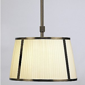 Chase 16 Inch Single Pendant with Framed Shade by Robert Abbey
