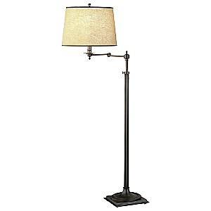Winston Swing Arm Floor Lamp by Robert Abbey