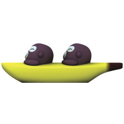 Banana Bros Salt and Pepper Shakers by Alessi